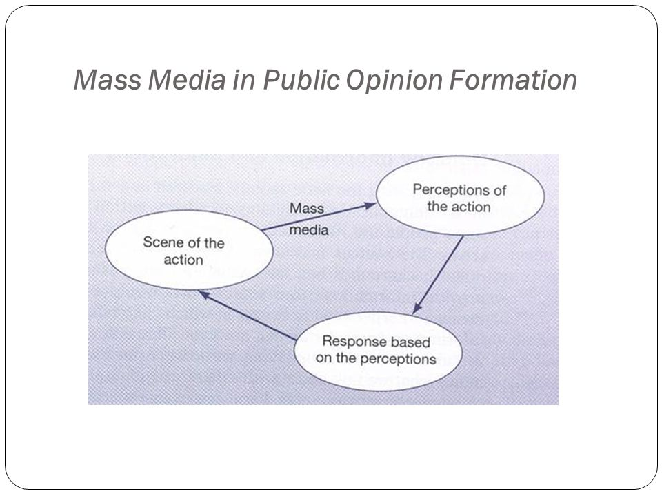 Mass Media in Public Opinion Formation