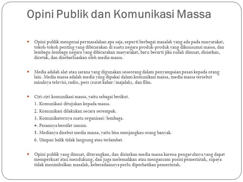 Opini Publik dan Komunikasi Massa