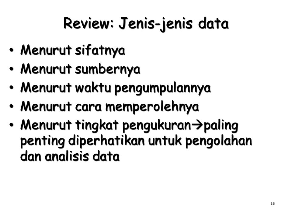 Review: Jenis-jenis data