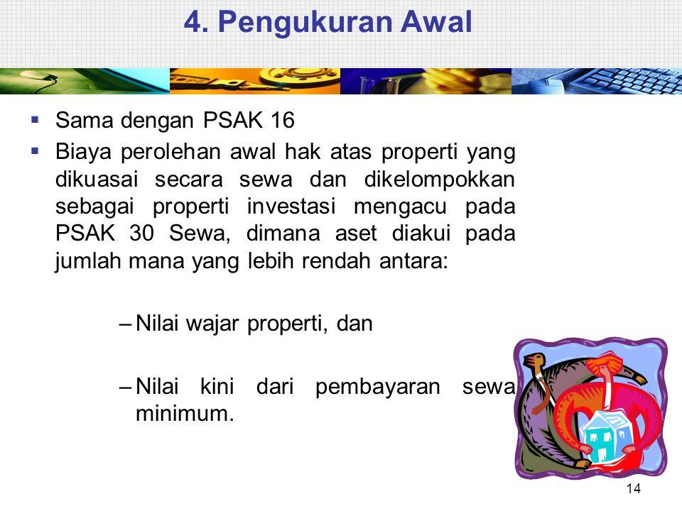 4. Pengukuran Awal Sama dengan PSAK 16
