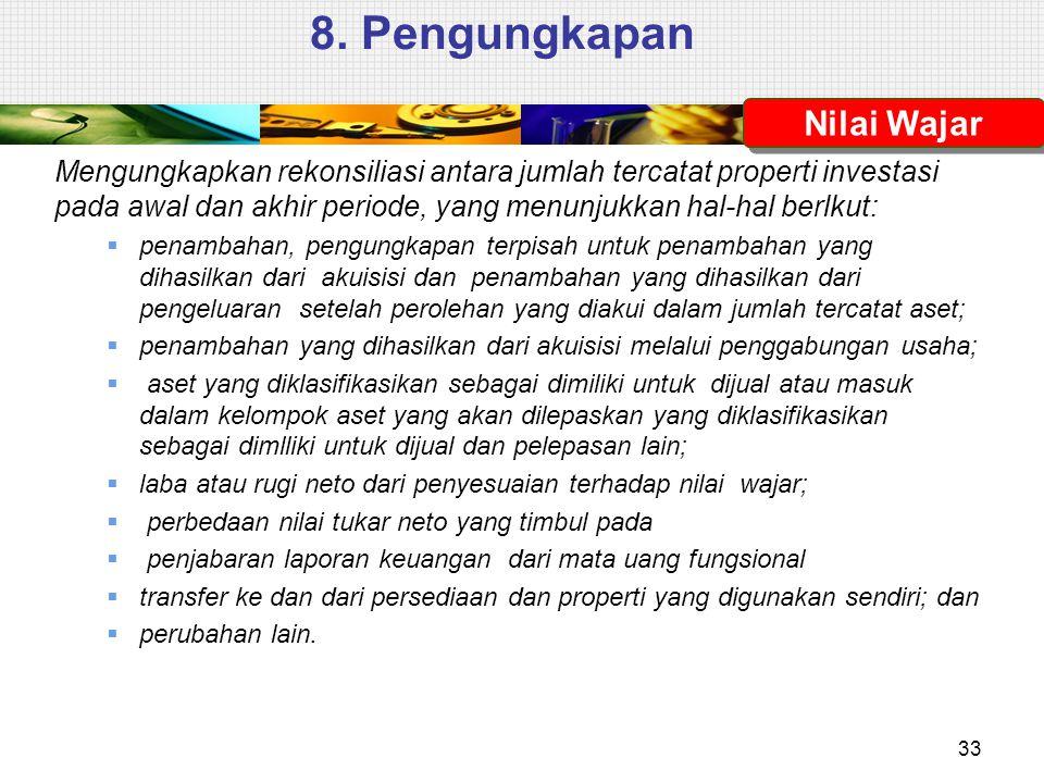 8. Pengungkapan Nilai Wajar
