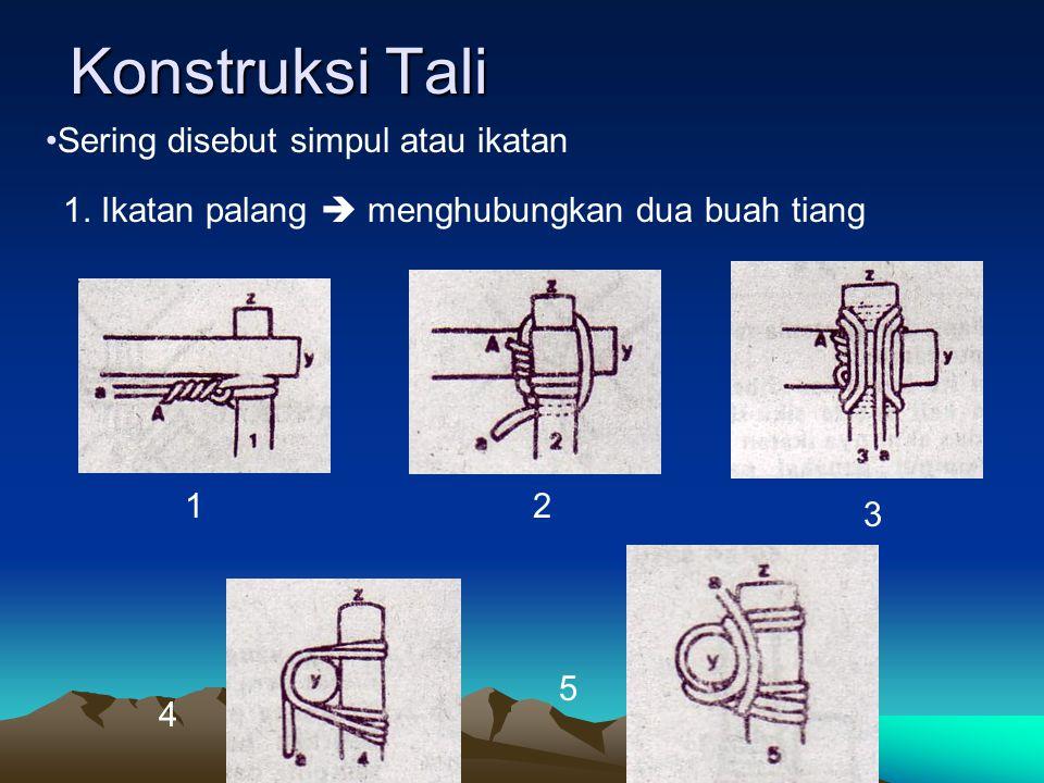 Konstruksi Tali Sering disebut simpul atau ikatan