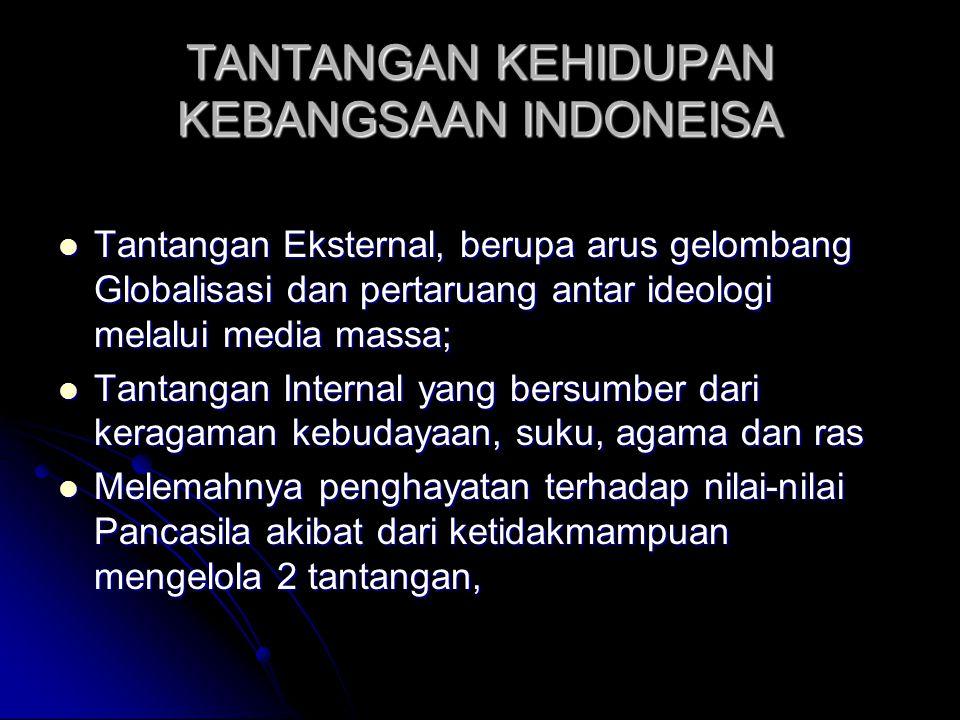TANTANGAN KEHIDUPAN KEBANGSAAN INDONEISA