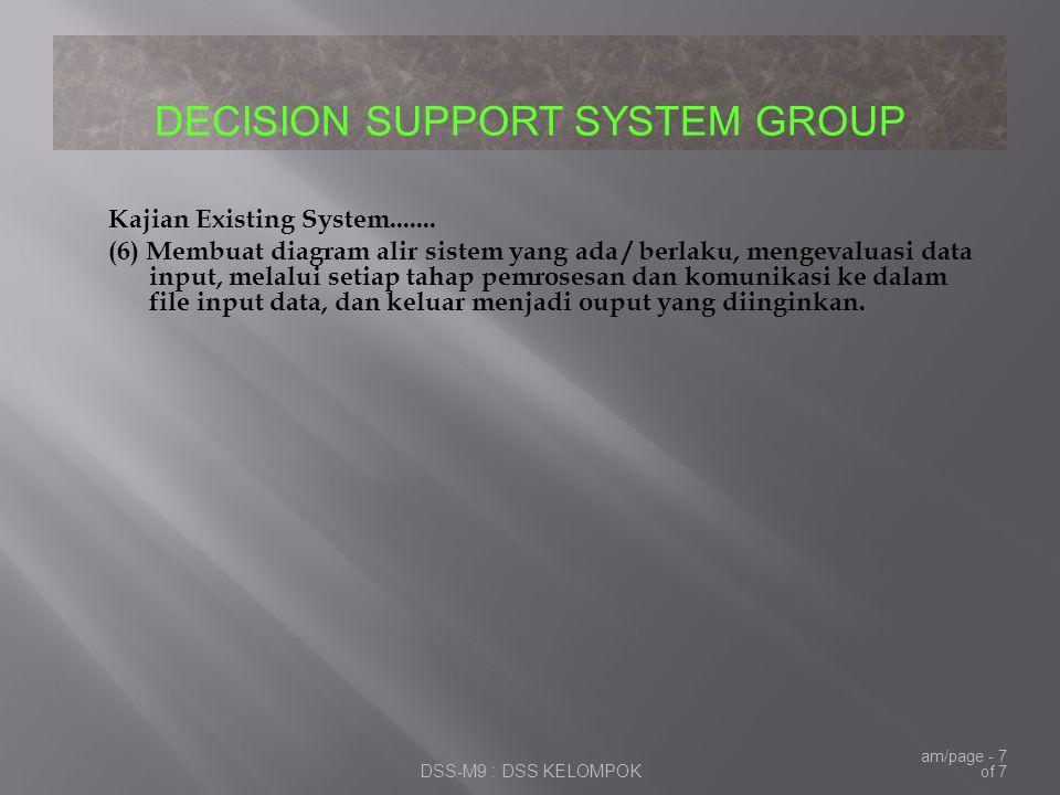 Kajian Existing System.......