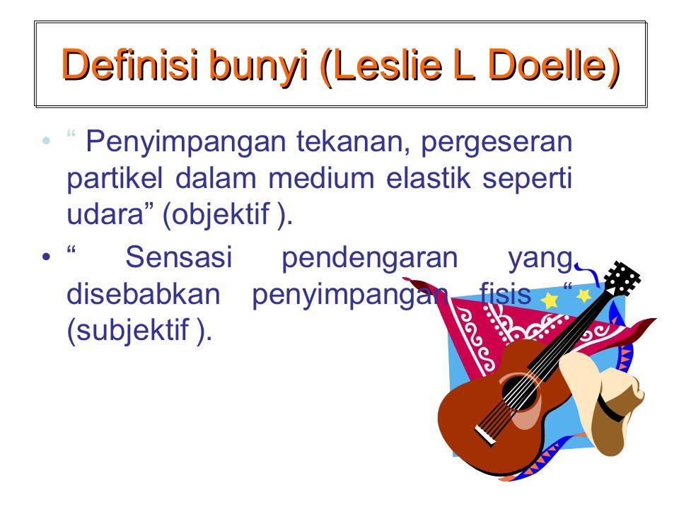 Definisi bunyi (Leslie L Doelle)