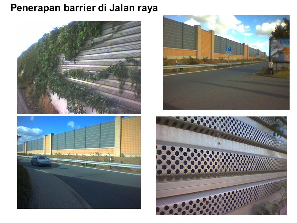 Penerapan barrier di Jalan raya