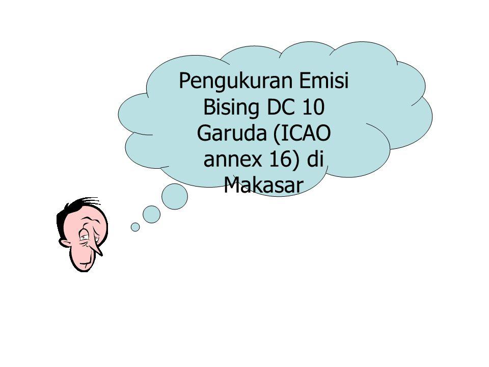 Pengukuran Emisi Bising DC 10 Garuda (ICAO annex 16) di Makasar