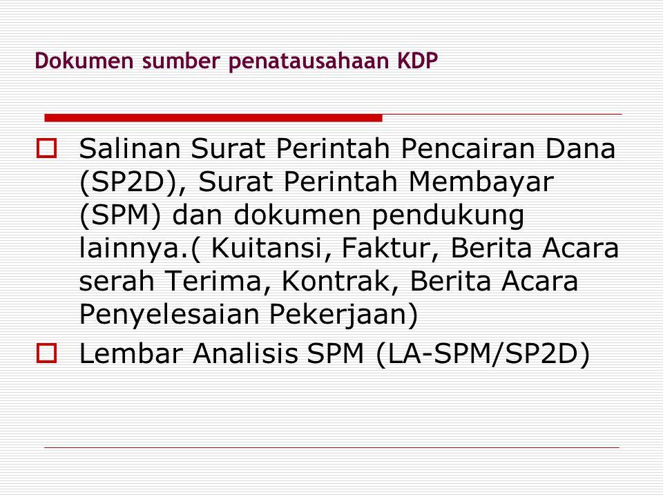 Dokumen sumber penatausahaan KDP