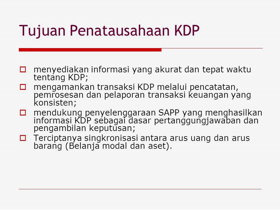 Tujuan Penatausahaan KDP
