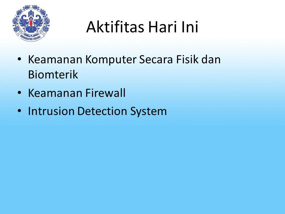 Aktifitas Hari Ini Keamanan Komputer Secara Fisik dan Biomterik
