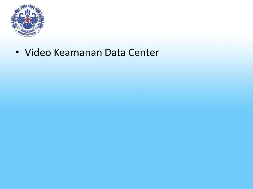 Video Keamanan Data Center