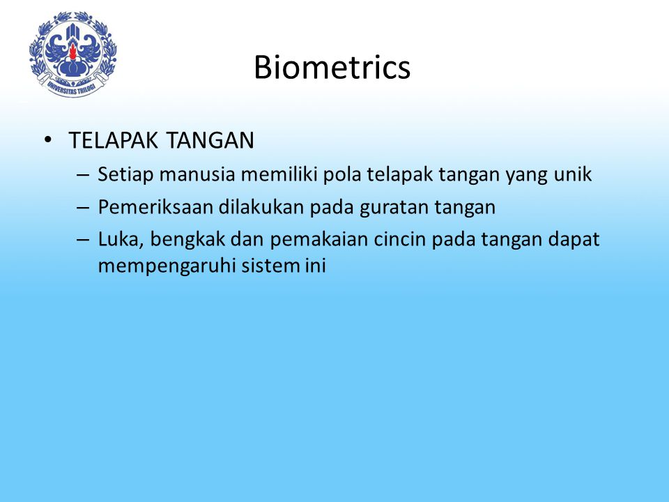 Biometrics TELAPAK TANGAN