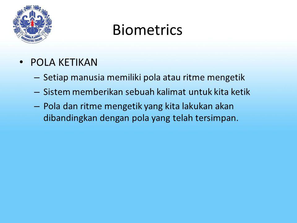 Biometrics POLA KETIKAN