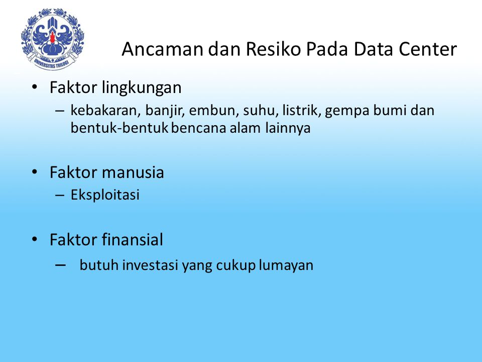Ancaman dan Resiko Pada Data Center