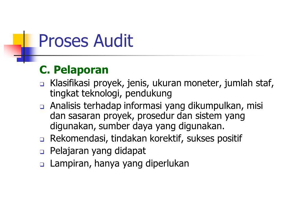 Proses Audit C. Pelaporan