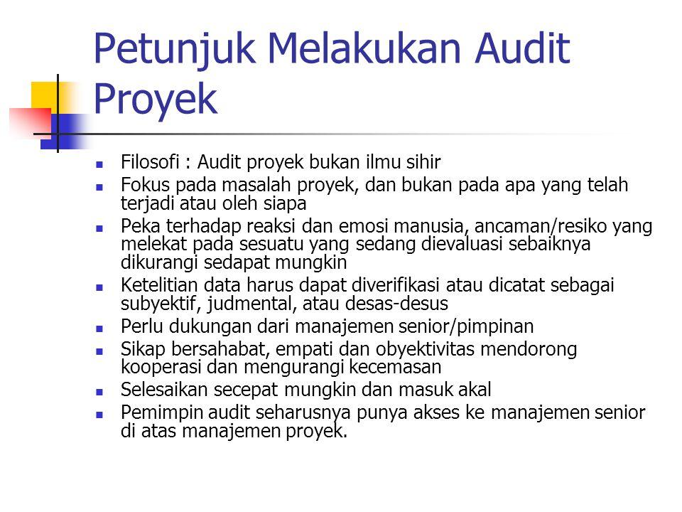 Petunjuk Melakukan Audit Proyek
