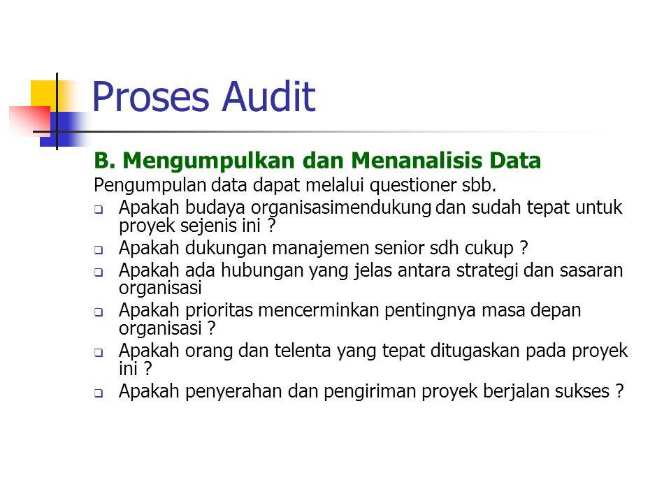 Proses Audit B. Mengumpulkan dan Menanalisis Data