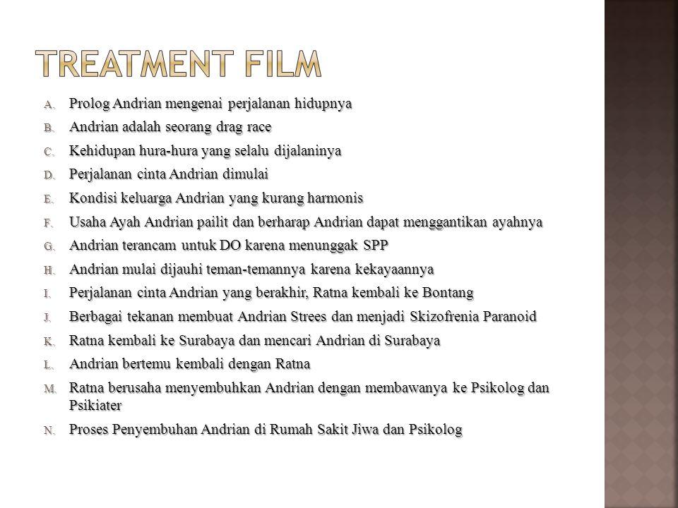 Treatment film Prolog Andrian mengenai perjalanan hidupnya