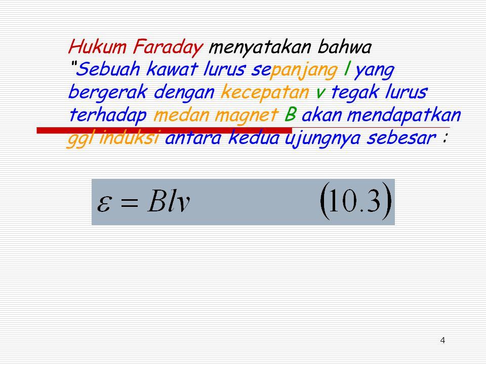 Hukum Faraday menyatakan bahwa
