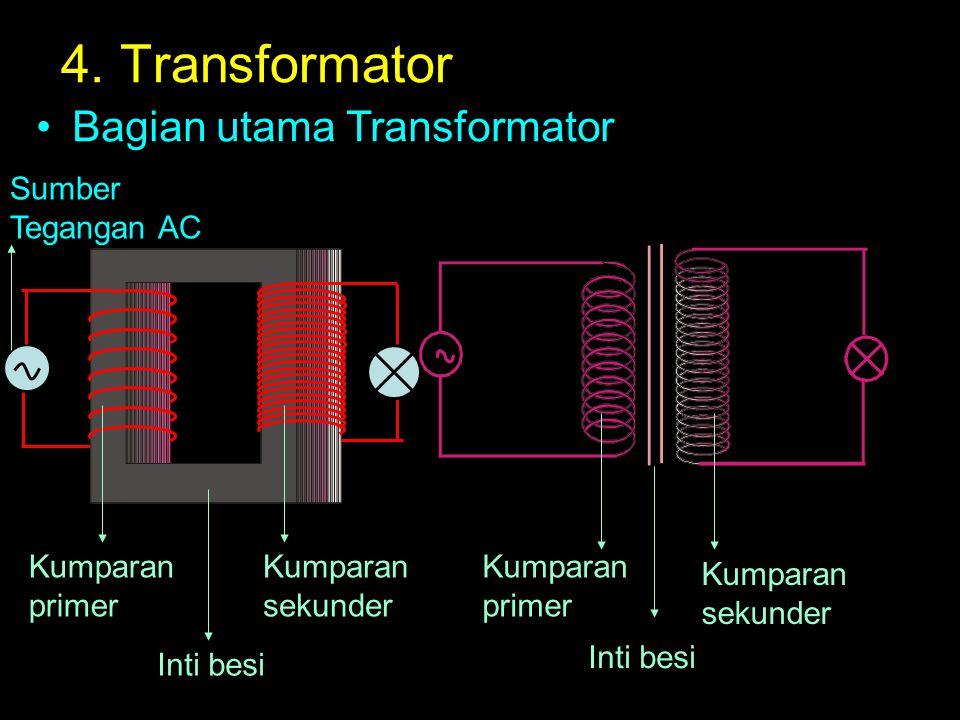 4. Transformator Bagian utama Transformator Sumber Tegangan AC