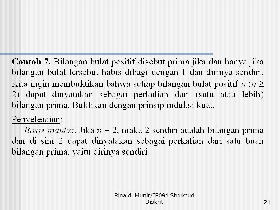 Rinaldi Munir/IF091 Struktud Diskrit