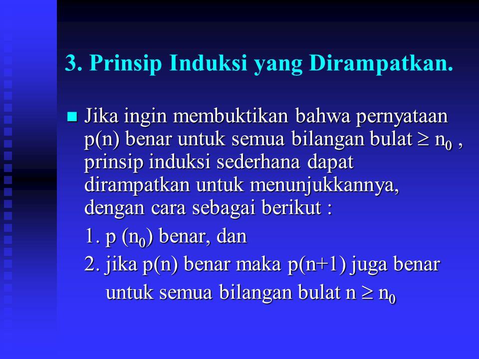 3. Prinsip Induksi yang Dirampatkan.