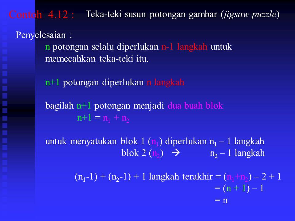 Contoh 4.12 : Teka-teki susun potongan gambar (jigsaw puzzle)