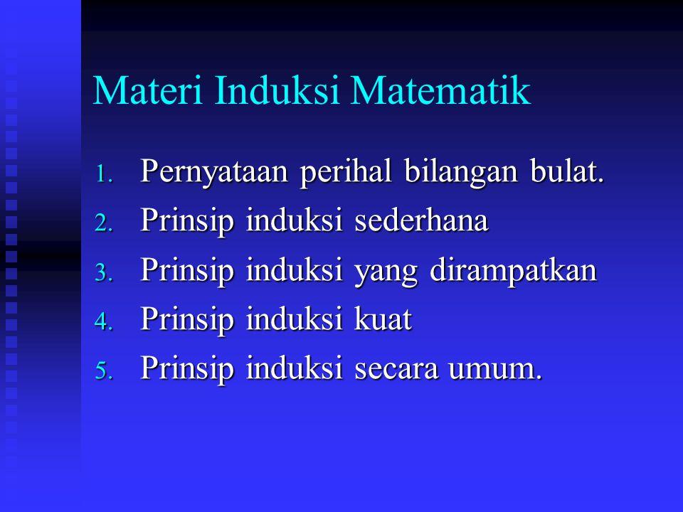 Materi Induksi Matematik