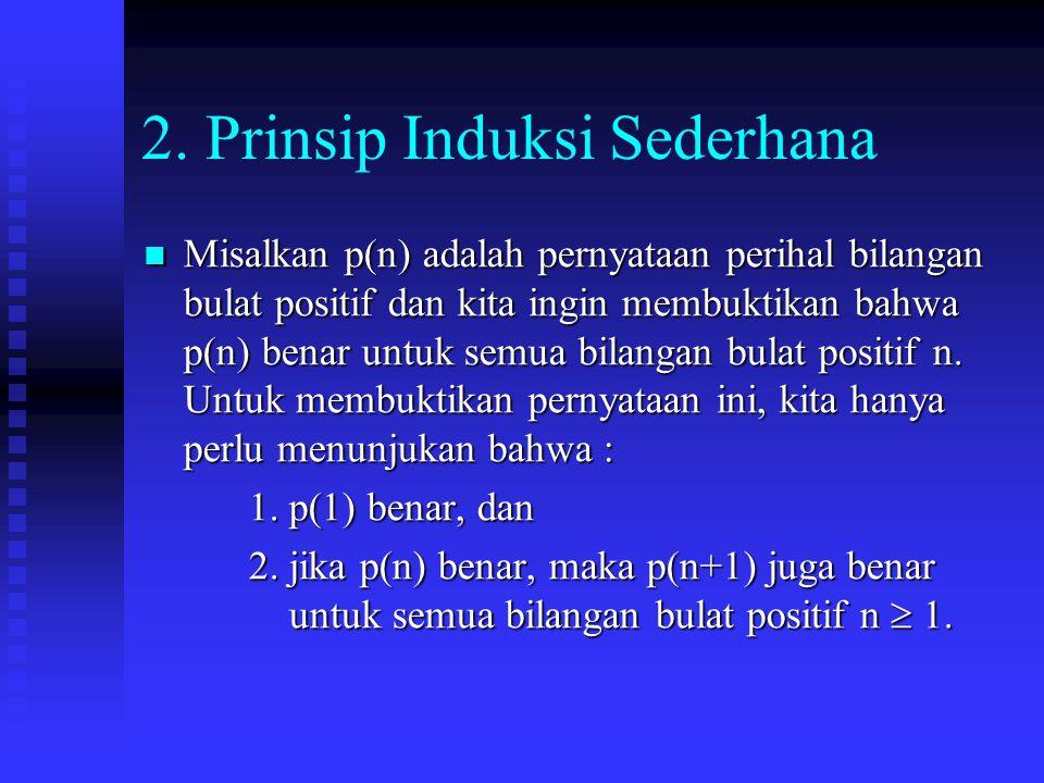 2. Prinsip Induksi Sederhana