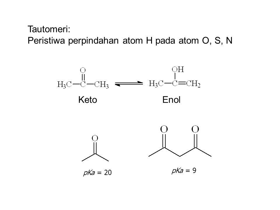 Peristiwa perpindahan atom H pada atom O, S, N