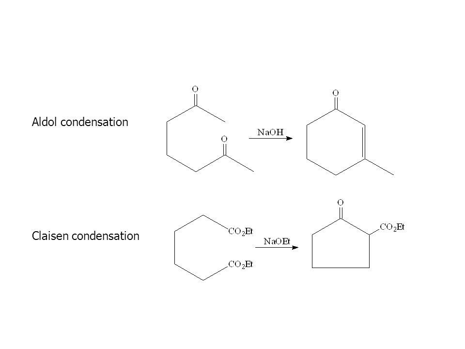 Aldol condensation Claisen condensation
