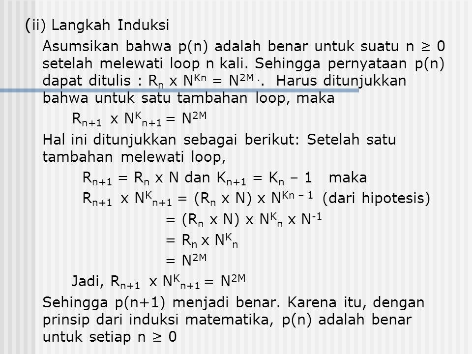 (ii) Langkah Induksi
