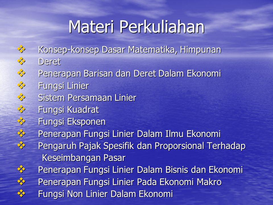 Materi Perkuliahan Konsep-konsep Dasar Matematika, Himpunan Deret