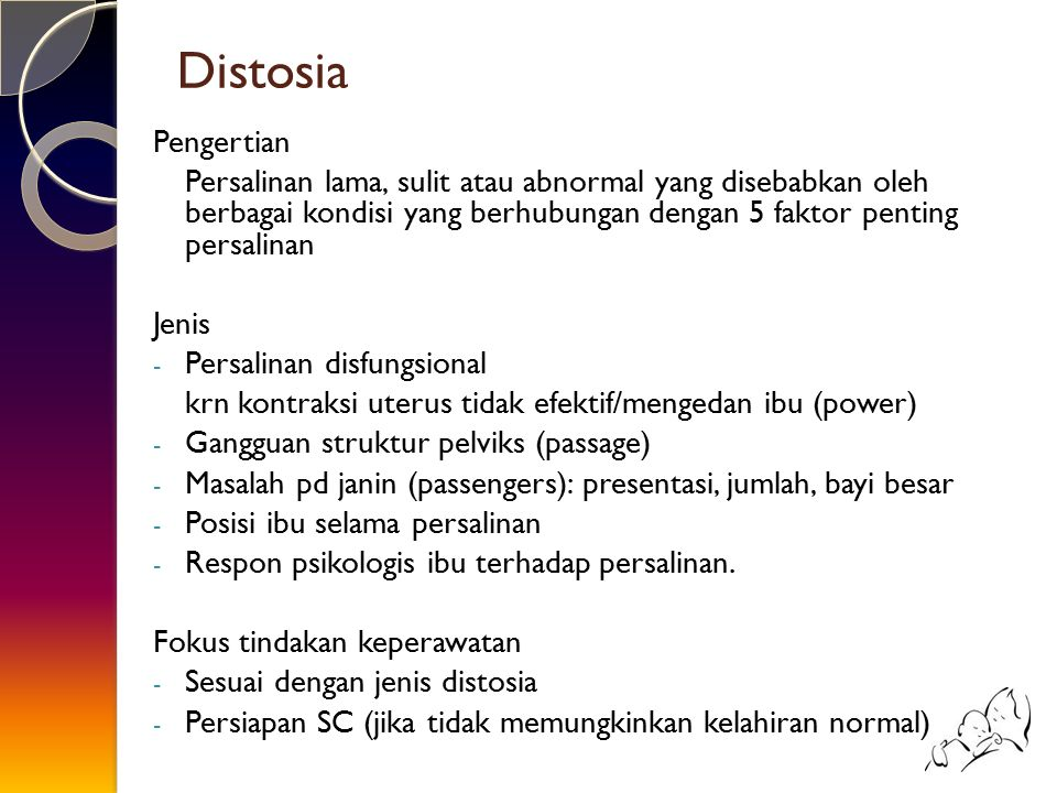 Distosia Pengertian.