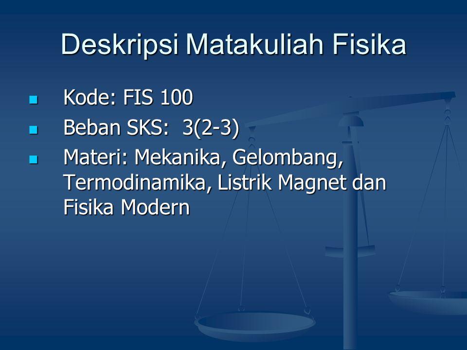 Deskripsi Matakuliah Fisika