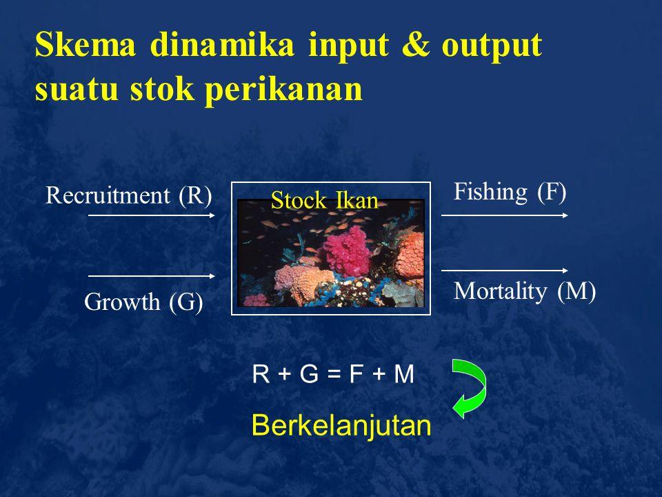 Skema dinamika input & output suatu stok perikanan