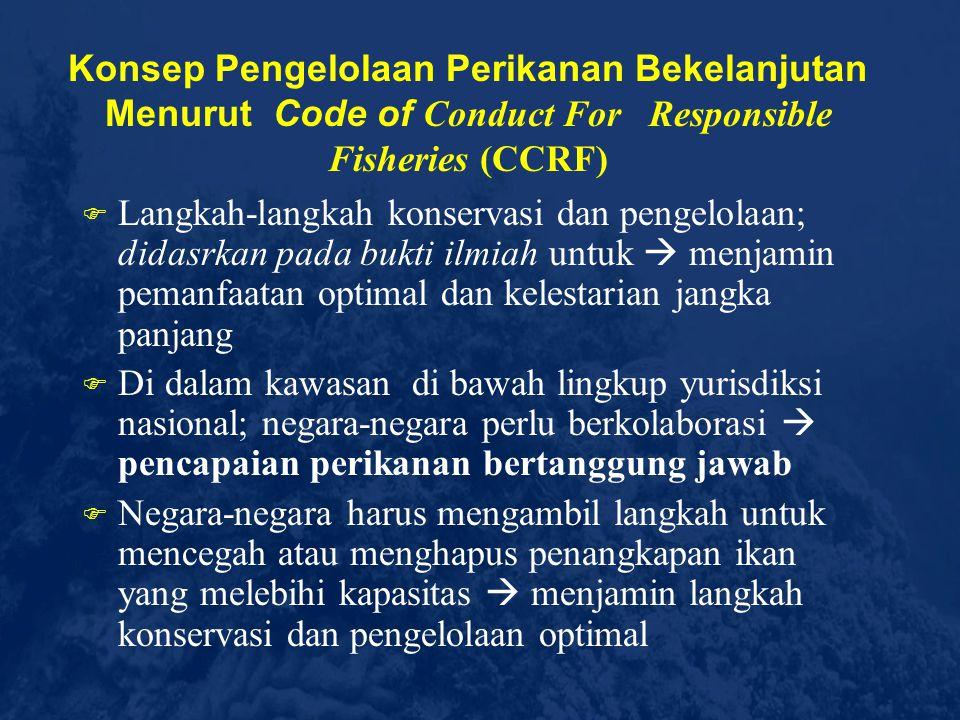 Konsep Pengelolaan Perikanan Bekelanjutan Menurut Code of Conduct For Responsible Fisheries (CCRF)