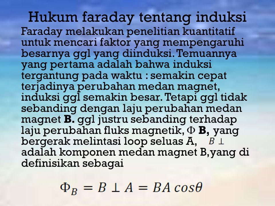 Hukum faraday tentang induksi