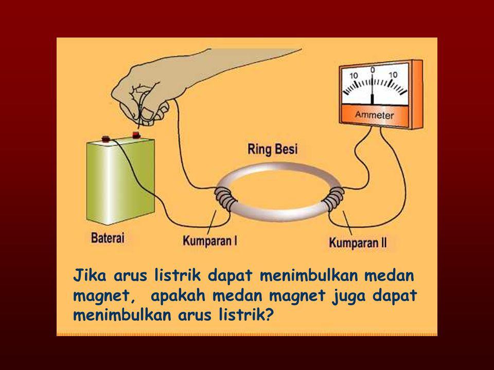 Jika arus listrik dapat menimbulkan medan magnet, apakah medan magnet juga dapat menimbulkan arus listrik