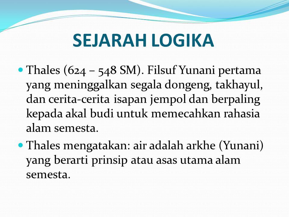 SEJARAH LOGIKA