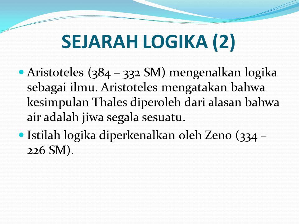 SEJARAH LOGIKA (2)