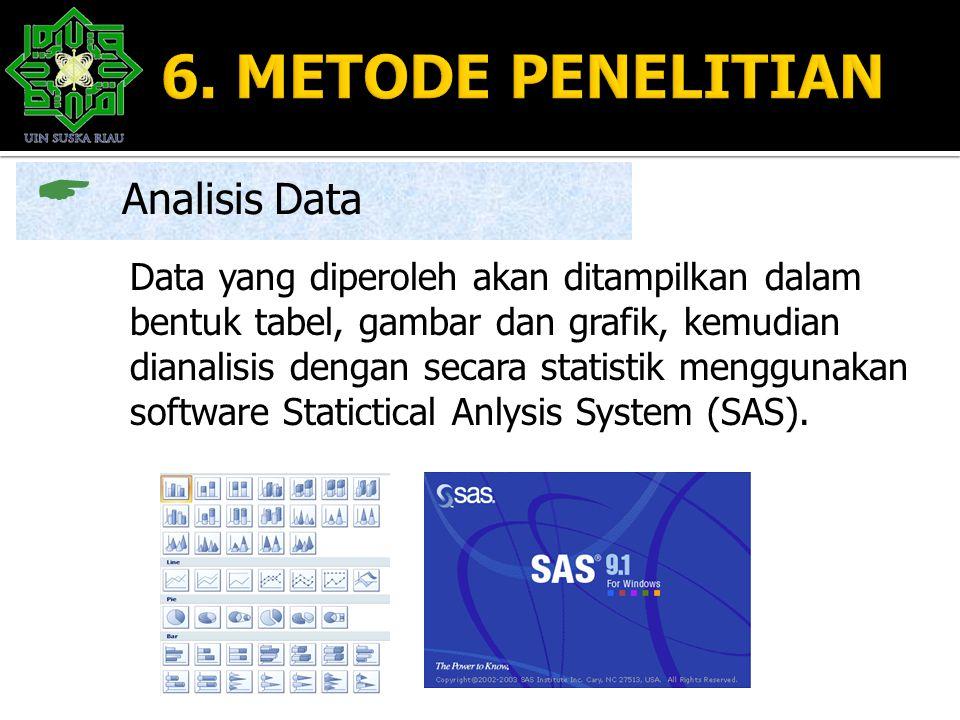 6. METODE PENELITIAN Analisis Data