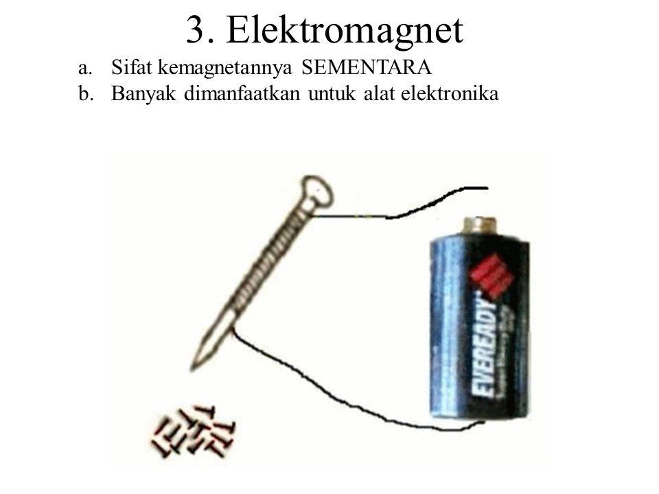 3. Elektromagnet Sifat kemagnetannya SEMENTARA