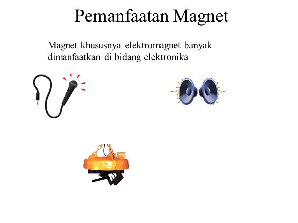 Pemanfaatan Magnet Magnet khususnya elektromagnet banyak dimanfaatkan di bidang elektronika