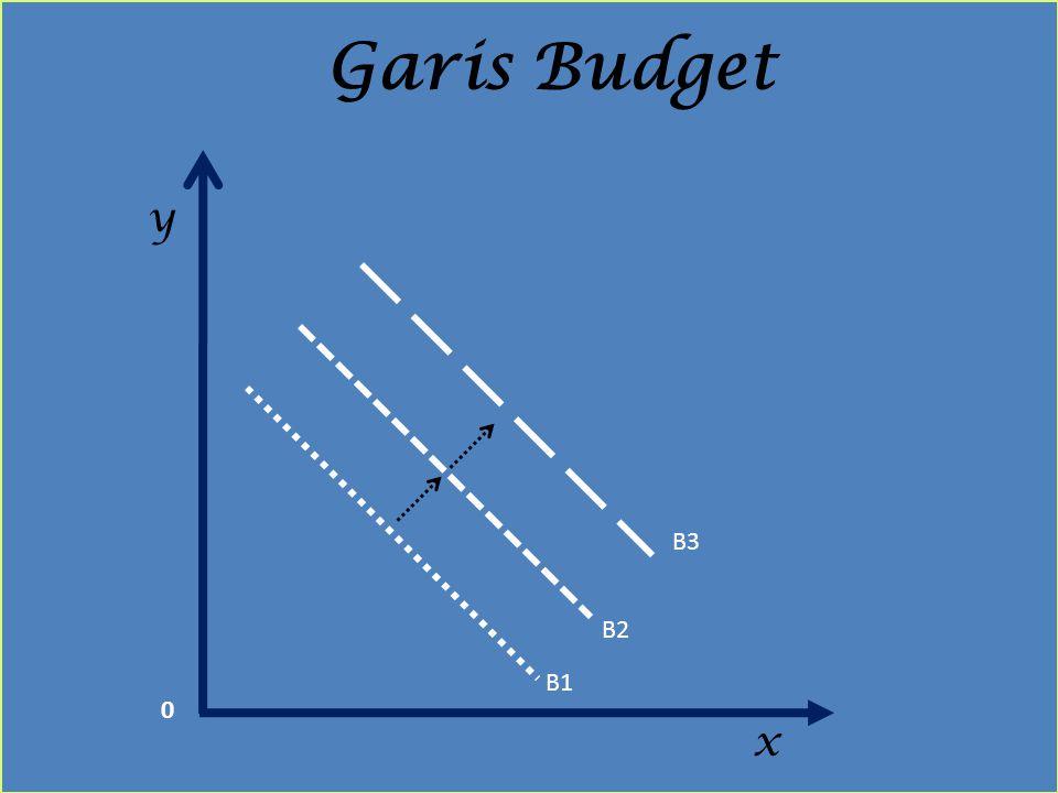 Garis Budget y B3 B2 B1 x