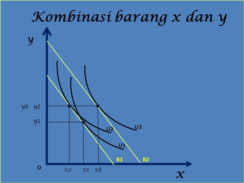 Kombinasi barang x dan y