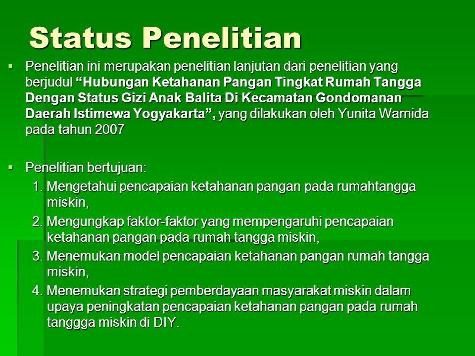 Status Penelitian