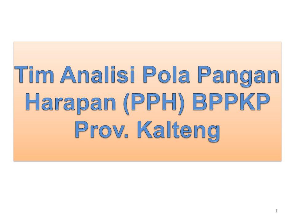Tim Analisi Pola Pangan Harapan (PPH) BPPKP Prov. Kalteng