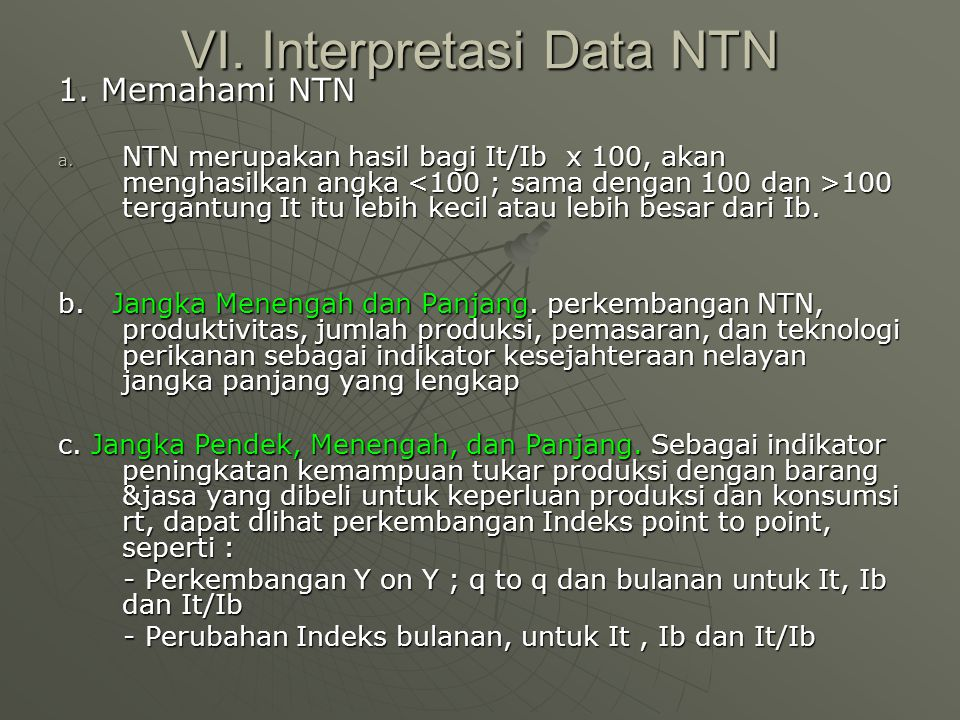 VI. Interpretasi Data NTN