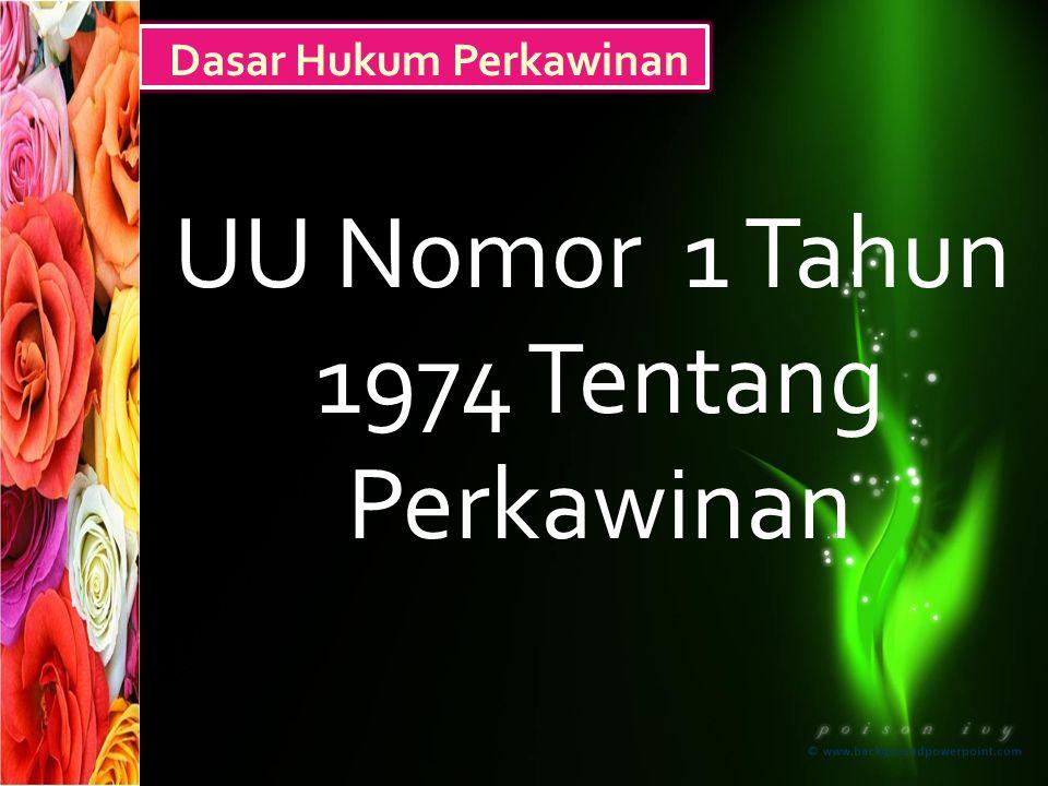 UU Nomor 1 Tahun 1974 Tentang Perkawinan